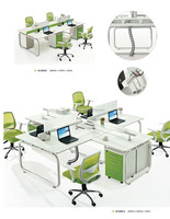 Mealmine Board Modern Office Workstation with Drawer Cabinet (JO-5005-4)