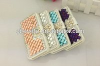For Apple iPhone5 5s Real Diamond Phone flip wallet leather Case Cover