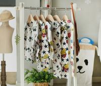 wholesale new 2016 European and American fashion autumn children's long-sleeved cotton pajamas cartoon children suit