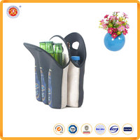 Promotional premium quality collapsible wine bottle cooler bag
