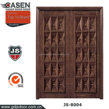 High quality residential main entry walnut color doors design double