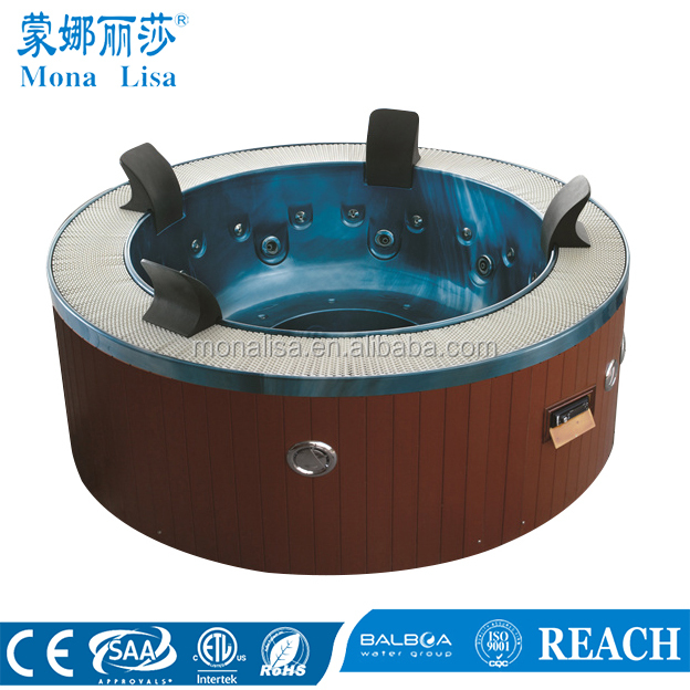 Traditional round whirlpool outdoor spa with masage bath hot tub (M-3329)