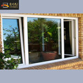 Aluminium Alloy Profile Double Glazing Tempered Glass Two Way Open Windows