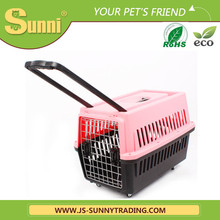 Personalise air pet carrier plastic pet cages for dog