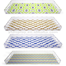 Rectangle Acrylic Transparent Tray, bottom with printed