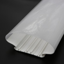 Extrusion profile for LED light accessories polycarbon extrusion, pc double color tube, PC led tube