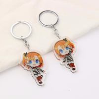Hot sale VOGRACE most popular cheap OEM plastic key holder fashion custom cartoon anime acrylic transparent charms for gift