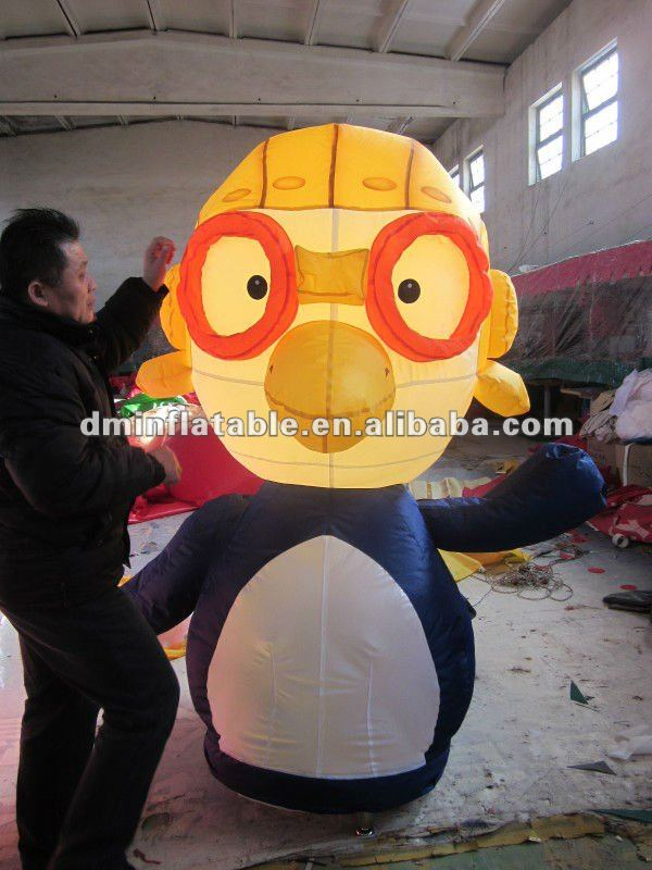 2m promotional inflatable cartoon penguin