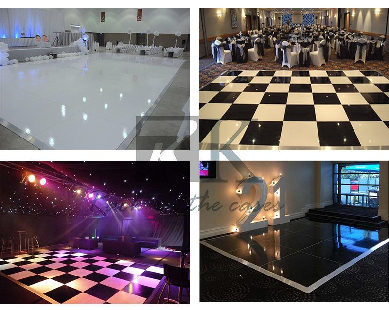 Black plywood dance floor no slip surface for sale