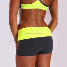 China Factory Hot Ladies Yoga Shorts Compression Shorts Running Shorts in Black