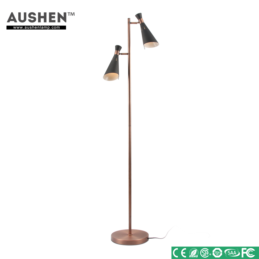 E12 Customized Cooper Metal Art Hotel floor lamp