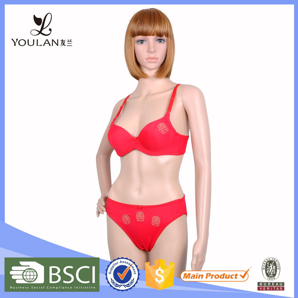 New Products Classical Fast Delivery Ladies Nylon Bra And Panties Set