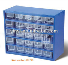25 Plastic Bin Organizer With Full Length Drawe,storage cabinet with 45 visible bins (502725)