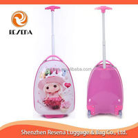 Picture Print Kids Trolley Hard Case Luggage,Lovely Children Travel Trolley Luggage Bag