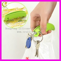 Good Selling Random Color Shopping Bag Carrier Grocery Wholesale Silicon Bag Holder