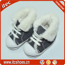 Factory Custom Kid Boots Soft Fur Sheepskin Baby Shoes For Winter