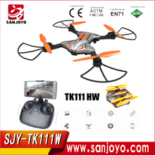TK111 HW Wifi FPV 720P HD Camera Foldable Flight Plan Route App Control & Altitude Hold Function with G-sensor SJY-TK111HW