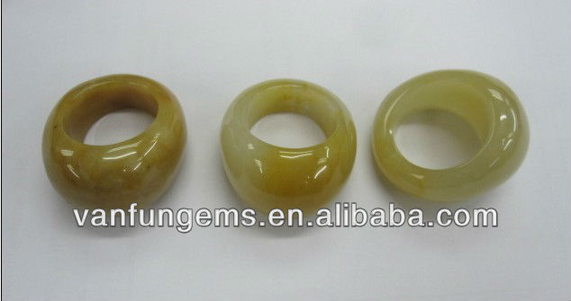 Hard Yellow Jade ring