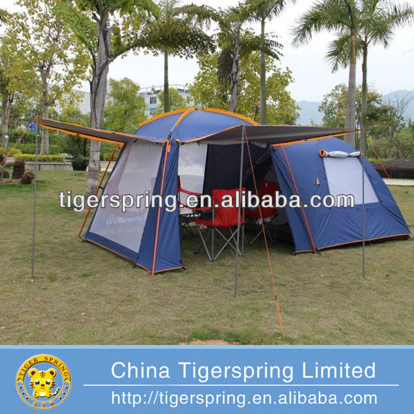Outdoor leisure 4 persons outdoor camping tent with vestibule
