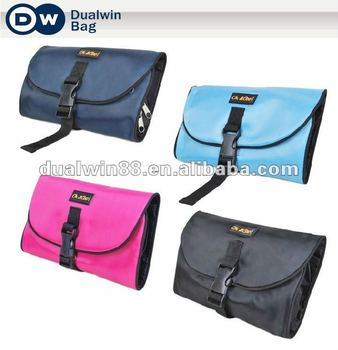Logo-branded quality foldable travel toiletry bag