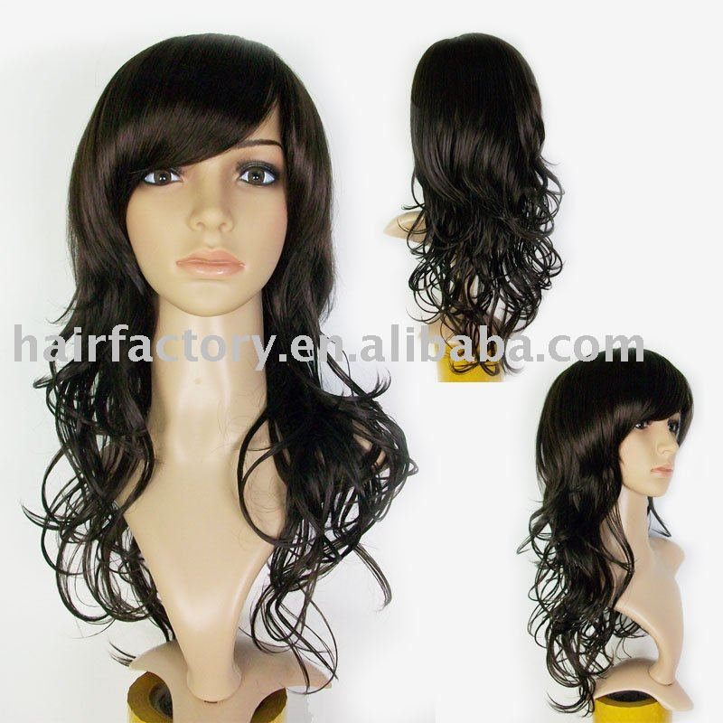 Brown Long Wig/wigs/Synthetic wigs