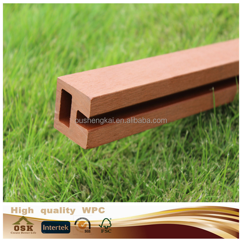 2015 hot sale wpc skirting boards deck wpc floor accessary for deck end covering