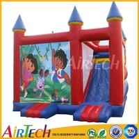 top selling PVC Tarpaulin inflatable kids castle beds,bounce castle