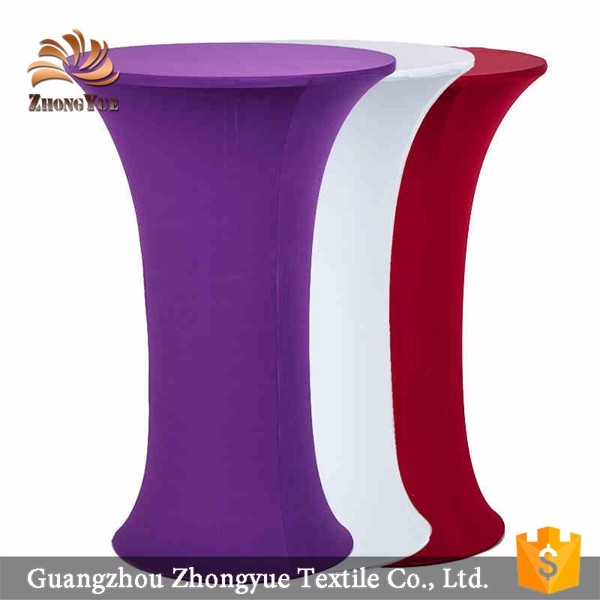 Spandex round table cloth wholesale cocktail table cover