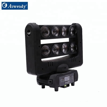 Hot wheel RGBW 8eyes LED beam moving head 8x10w 4in1 spider light