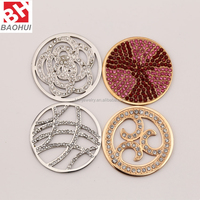 24/33MM Stainless Steel Floating Charms Locket Window Plate For Necklace Pendant