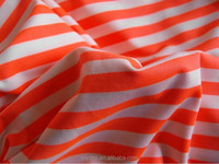 Polyester Spandex Stripe Knit Fabric