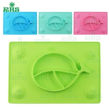 Smile baby placemat plate one piece silicone placemat one-piece health bowl placemat for kids children