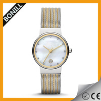 Hot selling 24k gold plating watch ladies fashion watches latest