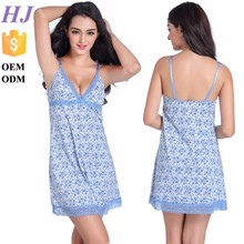 2016 latest design spring summer blue lace babydoll