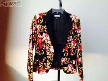 Good quality garment printed women jacket leftover stock