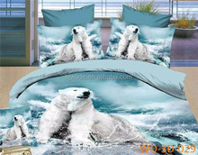 Manufacture factory price high quality 3d cotton duvet cover set