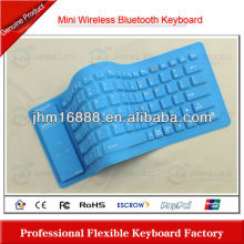 flexible silicon bluetooth keyboard case for iphone 3gs