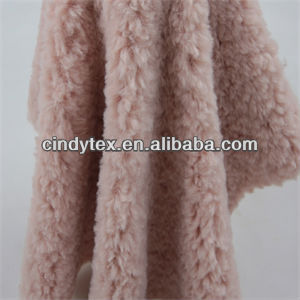 12mm plum plushed short hair soft 100% polyester shearling faux fur fabric