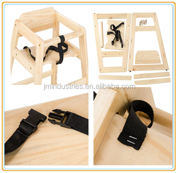 High Quality Professional Restaurant Wooden baby high chair dinning chair