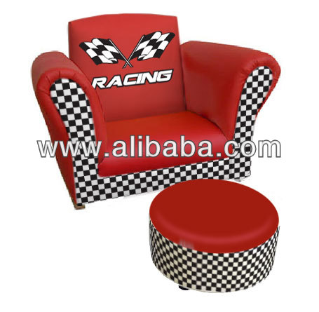 Turbo Red Kids Sofa