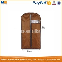 Customized polyester/nonwoven/pvc garment ziplock bag
