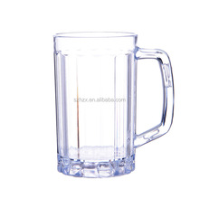 Wholesale 500ml Durable PC Plastic Beer Mug & Plastic Water Cup with Handle