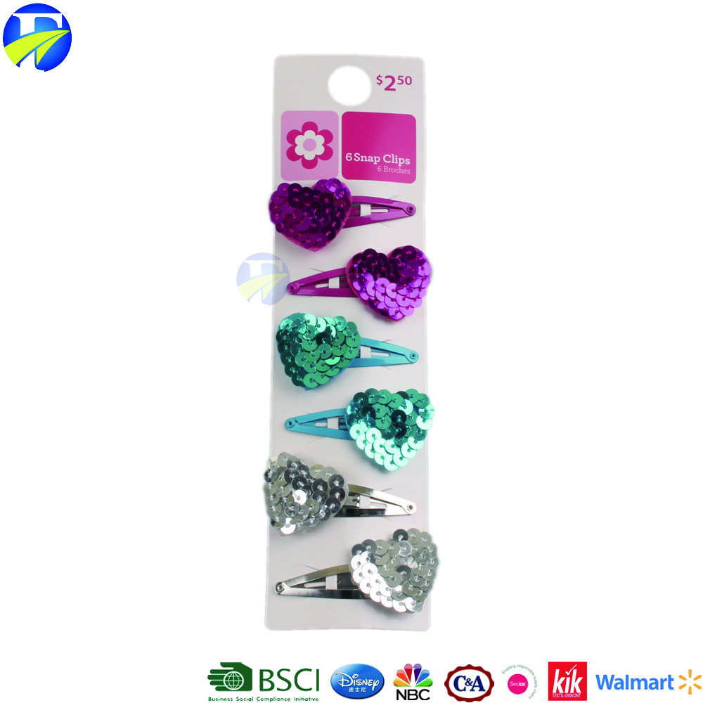 FJ brand best-selling baby big hairgrips high quality colorful heart hair clip