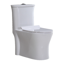 Hotel Use Ceramic One-Piece Toilet S-TRAP with Round Bowl