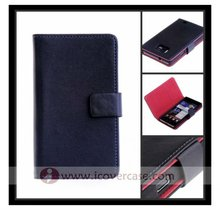 New High Quality Genuine Leather Wallet Case for Samsung galaxy s2 i9100, with card slot
