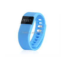 Bluetooth Vibrating Wrist Band Healthy Silicone Wristband Sports Watch Time Display/Incoming Call/Alarm/Pedometer