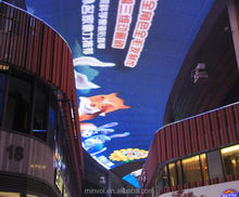 See-through/ transparent LED Media facade/wall/billboard/display and glass windows led