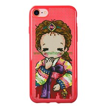 DIY soft cross stitch tpu phone case for iphone 7 7plus 8 8 plus