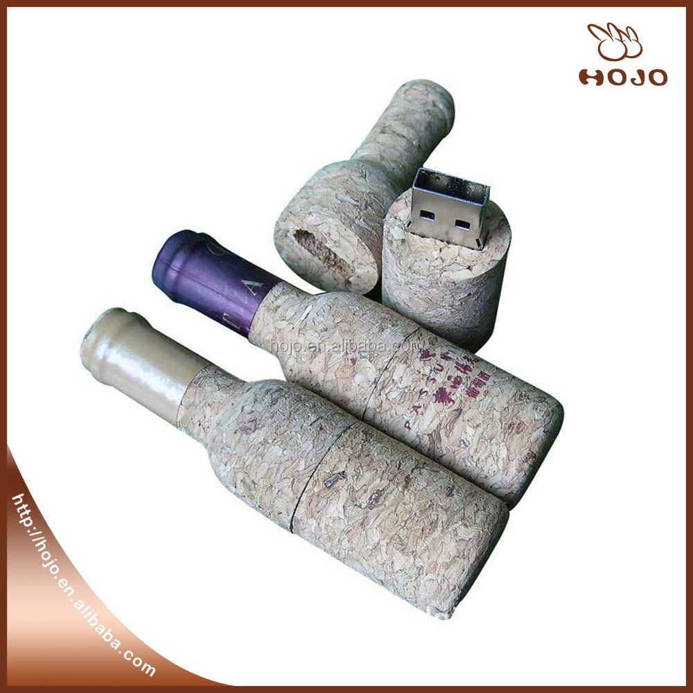 Promotional gifts wooden wine cork usb