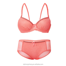 Elegant Women Underwear Sexi pushup Dress bra and penty half cup Bra Set